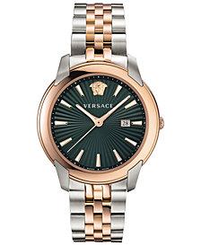 Versace Men's Swiss V-Urban Two-Tone Stainless Steel Bracelet Watch 42mm