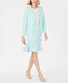Three-Button Flared Skirt Suit