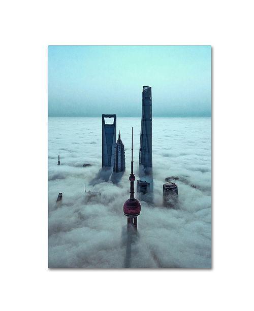 "Trademark Global Stan Huang 'Sky City' Canvas Art - 19"" x 14"" x 2"""