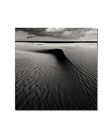 "Wim Schuurmans 'Umbrella On The Beach' Canvas Art - 14"" x 14"" x 2"""