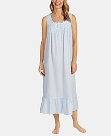 Mommy And Me Collection Swiss Dot Cotton Ballet-Length Nightgown