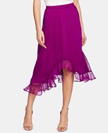 Vince Camuto Ruffled Asymmetrical Skirt