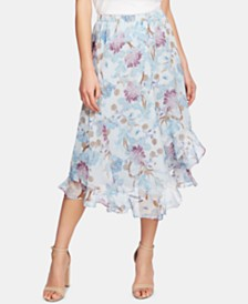 Vince Camuto Floral Ruffled Skirt
