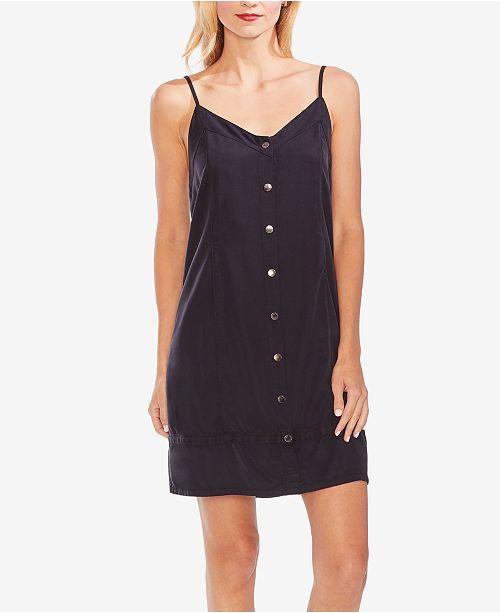 Vince Camuto V-Neck Button-Front Dress
