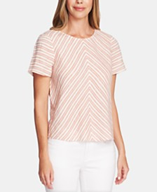 Vince Camuto Riviera Linen Striped Top