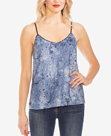 Vince Camuto Sequined Tie-Dye Camisole Top