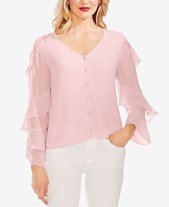 f1fd7918df2 Vince Camuto Tiered-Sleeve Blouse