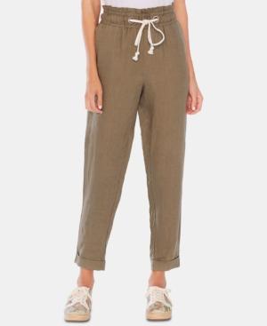 Vince Camuto Pants LINEN SLIM-LEG PULL-ON PANTS
