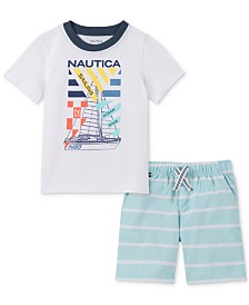 Nautica Baby Boys 2-Pc. Graphic T-Shirt & Shorts Set