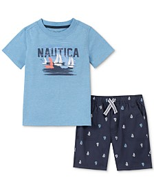 Nautica Baby Boys 2-Pc. Graphic T-Shirt & Printed Shorts Set