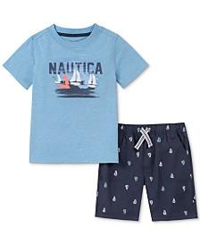 Nautica Baby Boys 2-Pc. Graphic T-Shirt & Printed Shorts Set