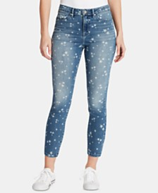 WILLIAM RAST Star-Print Sculpted Skinny Ankle Jeans