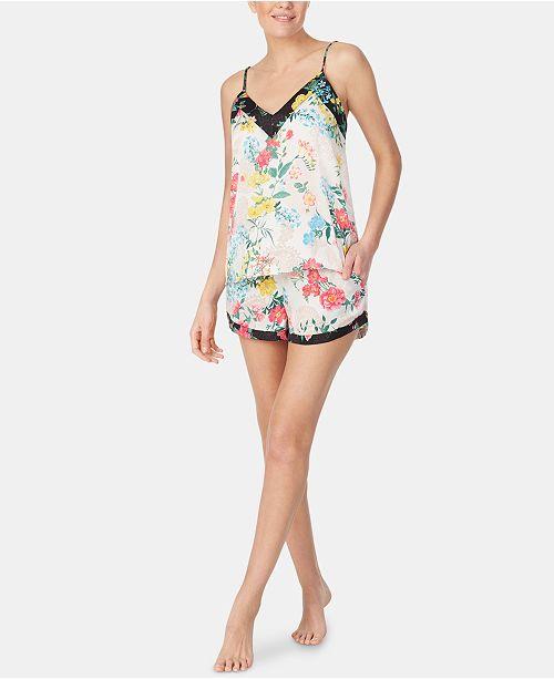 Betsey Johnson Floral-Print Cami & Shorts Pajama Set