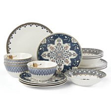 Lenox Global Tapesetry Sapphire 16-PC Dinnerware Set