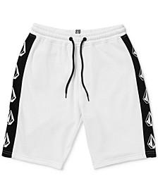 Big Boys Deadly Stone Logo Stripe Fleece Shorts