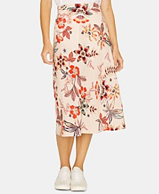 Everyday Floral Printed Midi Skirt