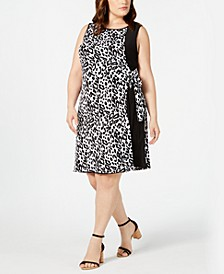 Plus Size Animal-Print Wrap Dress
