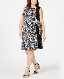 MSK Plus Size Animal-Print Wrap Dress