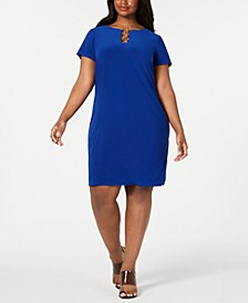 Plus Size Embellished Shift Dress
