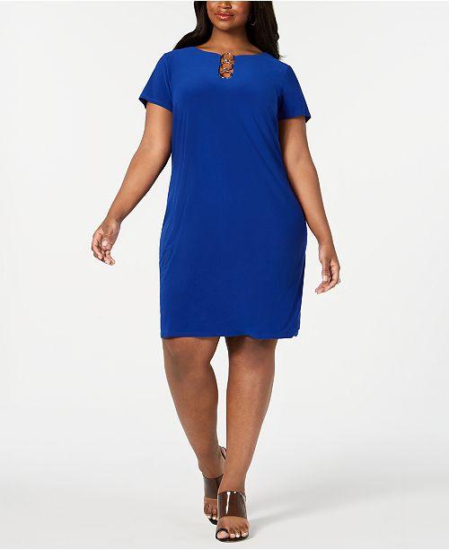 Plus Size Embellished Shift Dress