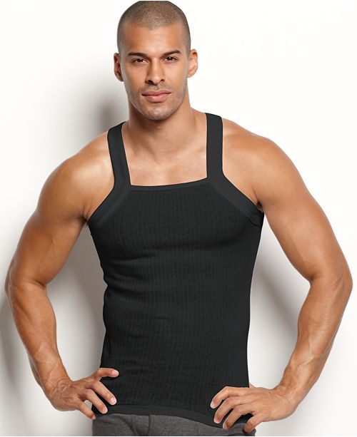 33f6ee9bd477c4 2(x)ist Men s Essential 2 Pack Square-Cut Tank   Reviews - Underwear ...