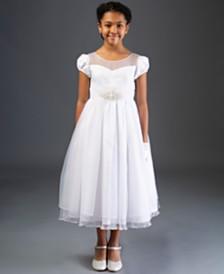 Bonnie Jean Organza Illusion Embellished Communion Dress