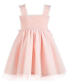 First Impressions Baby Girls Tulle Smocked Sundress, Created for Macy's