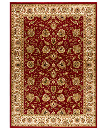 Image 1 Of Closeout Kenneth Mink Area Rug Warwick Kashan Crimson Wheat 3
