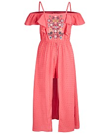 Epic Threads Big Girls Swiss-Dot Romper Dress, Created for Macy's