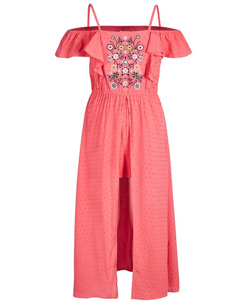 Epic Threads Big Girls Swiss-Dot Romper Dress, Created for Macy's