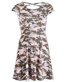 Epic Threads Big Girls Camo-Print Skater Dress, Created for Macy's