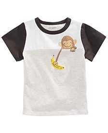 First Impressions Baby Boys Colorblocked Monkey T-Shirt, Created for Macy's