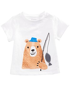 First Impressions Baby Boys Cotton Graphic-Print T-Shirt, Created for Macy's