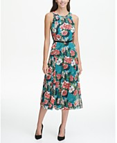 77d171874ae Tommy Hilfiger Floral-Printed Belted Halter Midi Dress
