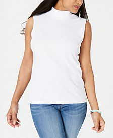 Mock-Neck Sleeveless Top, Created for Macy's