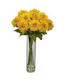 Nearly Natural Sunflower w/Cylinder Silk Flower Arrangement