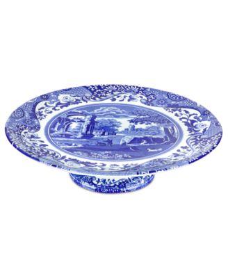 Image 1 of Spode Dinnerware Blue Italian Cake Stand  sc 1 st  Macy\u0027s & Spode Dinnerware Blue Italian Cake Stand - Dinnerware - Dining ...