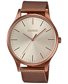 Women's Copper-Tone Stainless Steel Mesh Watch 38mm