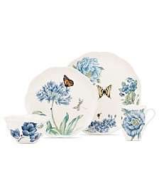 Lenox Dinnerware, Butterfly Meadow Blue 4 Piece Place Setting