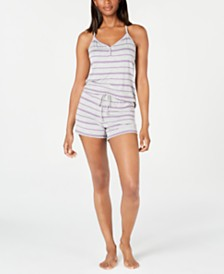 Alfani Henley Tank Top & Shorts Sleep Set, Created for Macy's