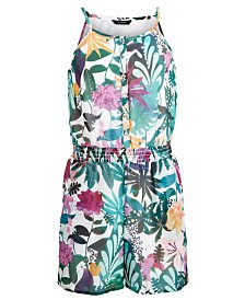 GUESS Big Girls Floral-Print Romper
