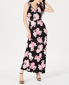 Trixxi Juniors' Floral-Print Maxi Dress