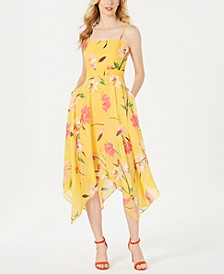 Floral Square-Neck Fit & Flare Dress