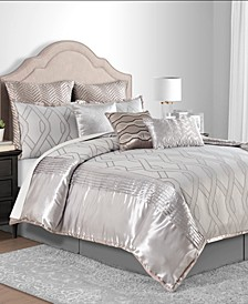 CLOSEOUT! Winston Taupe Full 10-Pc. Comforter Set