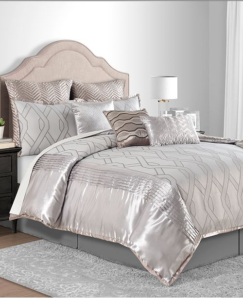 Sunham Winston Taupe 10-Pc. Comforter Sets
