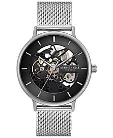Men's Automatic Stainless Steel Mesh Bracelet Watch 43mm