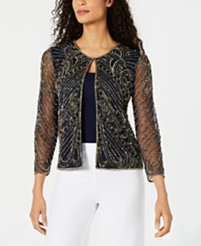 28th & Park Beaded & Sequined Jacket, Created for Macy's