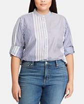 76468dbdd Lauren Ralph Lauren Plus Size Striped Shirt