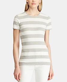 Lauren Ralph Lauren Stretch Striped Cotton T-Shirt
