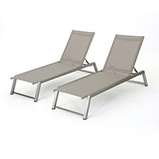 Myers Outdoor Chaise (Set of 2), Quick Ship